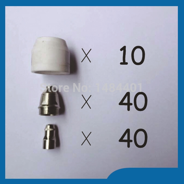 67.99$  Watch now - http://ali7zg.worldwells.pw/go.php?t=32323263774 - P-80 Panasonic Air Plasma Cutting Cutter Torch Consumables,Plasma Nozzles, TIPS Plasma Electrodes, 90PK