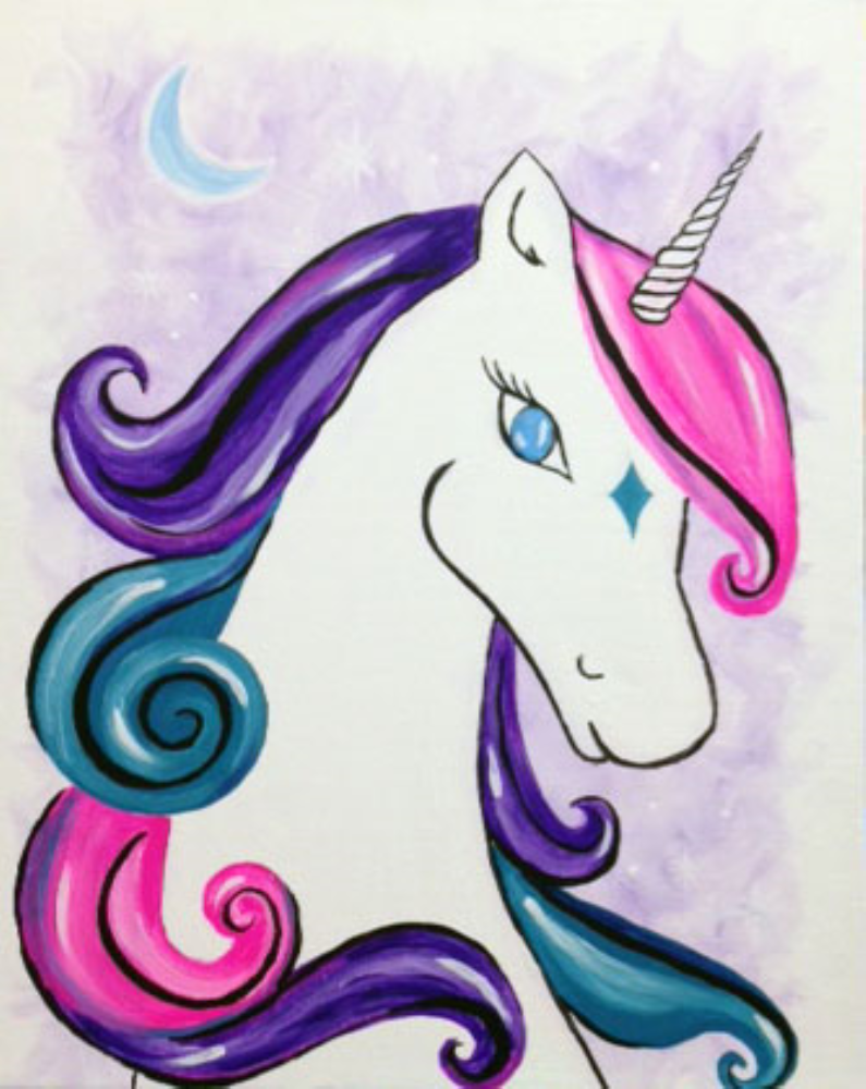 Pics For Gt Colorful Unicorn Painting