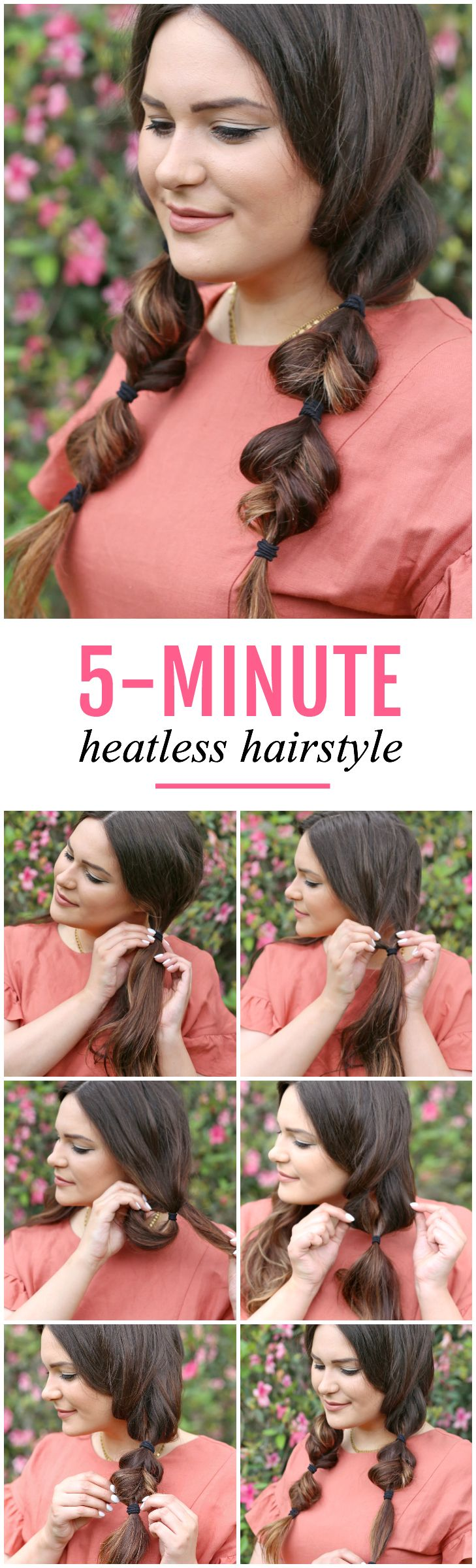 Get this easy heatless hairstyle for spring faux braids bleached