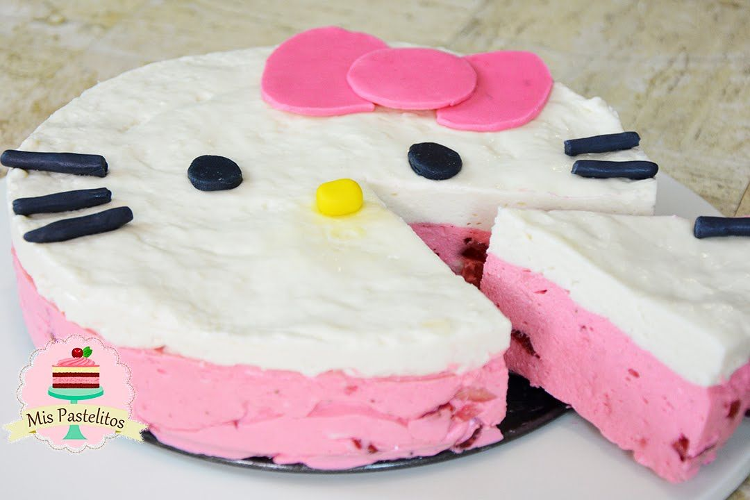 Pay De Hello Kitty Sin Horno Pastel De Hello Kitty Pasteles Pastel De Dulces