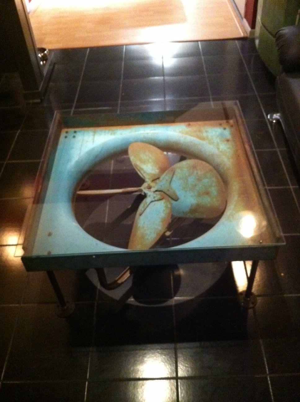 Industrial Fan Coffee Table Reclaimed Industrial Fan Coffee Table By Sarchworks On Etsy