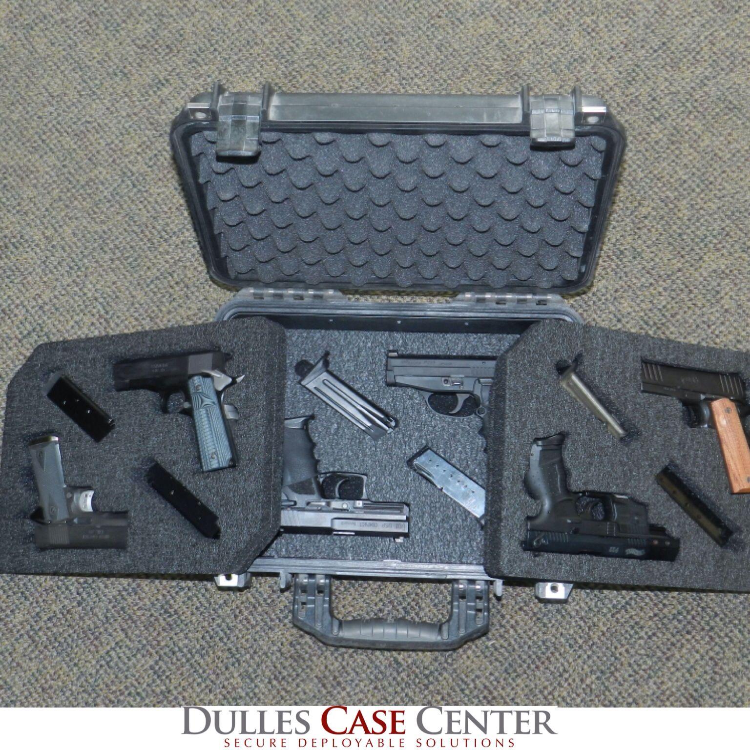 Custom Foam Custom Pistol Case A Pelican 1450 with 3 foam