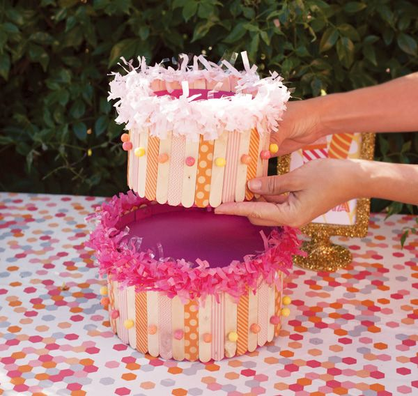 Diy Tutorial Popsicle Stick Cake Centerpiece Hostess With The Mostess Cake Cake Centerpieces Popsicle Sticks