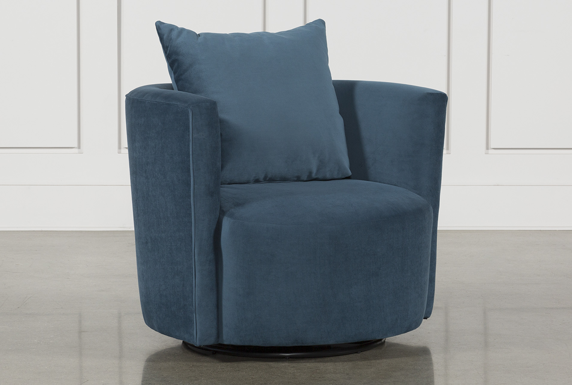 Twirl Swivel Accent Chair Blue 450 Accent Chairs Blue