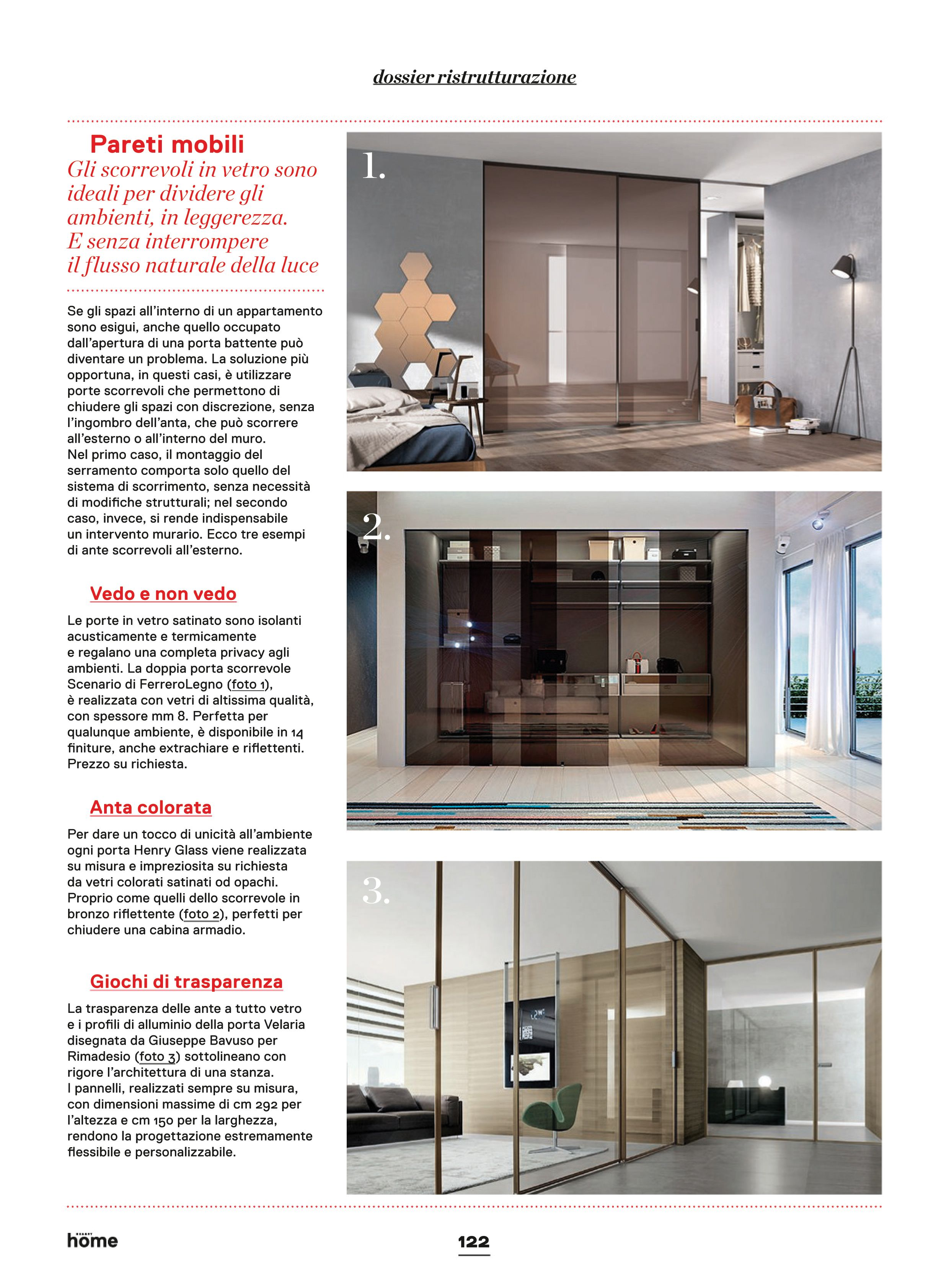 servizio redazionale dossier ristrutturazione pareti mobili