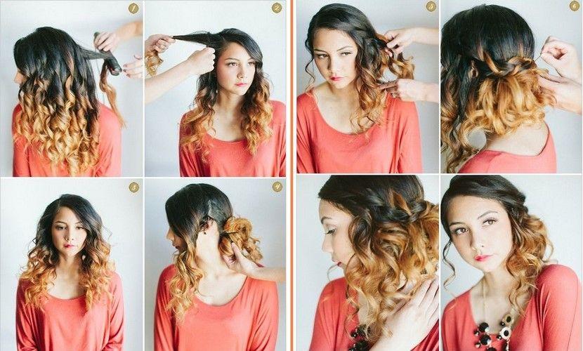 Recogido Para Pelo Largo Peinados Faciles Pelo Corto Peinados Con Rizos Peinados Poco Cabello