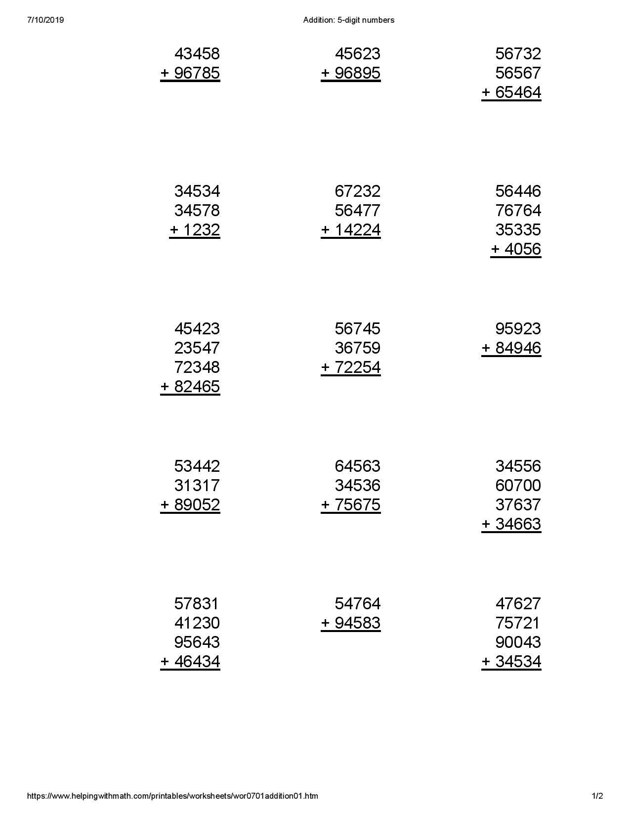 Best 4th Grade Math Worksheet You Calendars Https Www Youcalendars Com 4th Grade Math Works 4th Grade Math Worksheets Addition Worksheets Math Worksheet