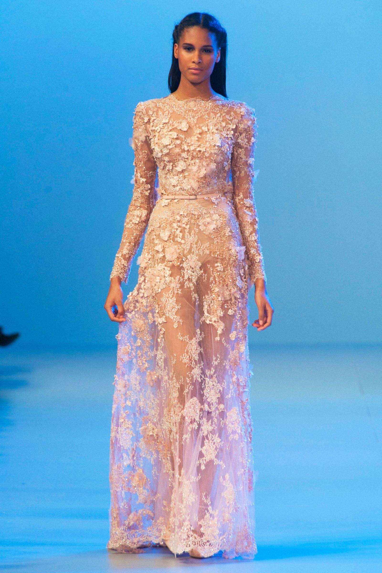 Elie Saab Spring 2014 Couture Fashion Show   Glamour, Con estilo y ...
