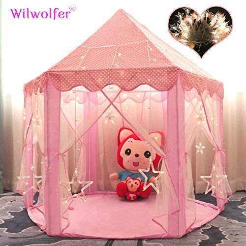 Princess Tent Large Castle Playhouse for Children Indoor and Outdoor Games Hexagon Kids Play Tent with & Princess Tent Large Castle Playhouse for Children Indoor and ...