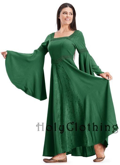 Arwen Maxi | Green dresses | Dresses, Medieval dress, Arwen