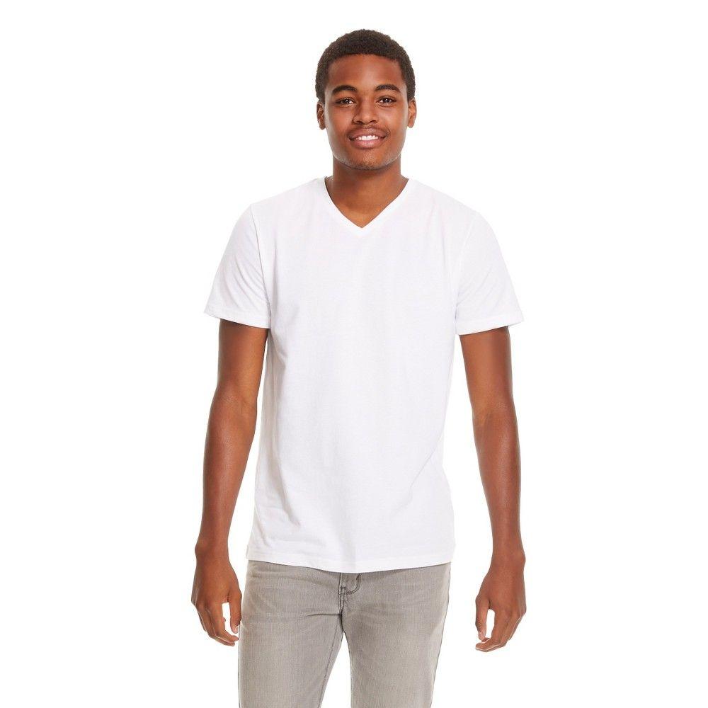 b9225825 Men's V-Neck T-Shirt White - Mossimo Supply Co. Xsm, Size: XS, True White