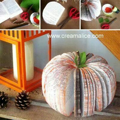 Livre Citrouille Pliage Spring Decor Diy Halloween