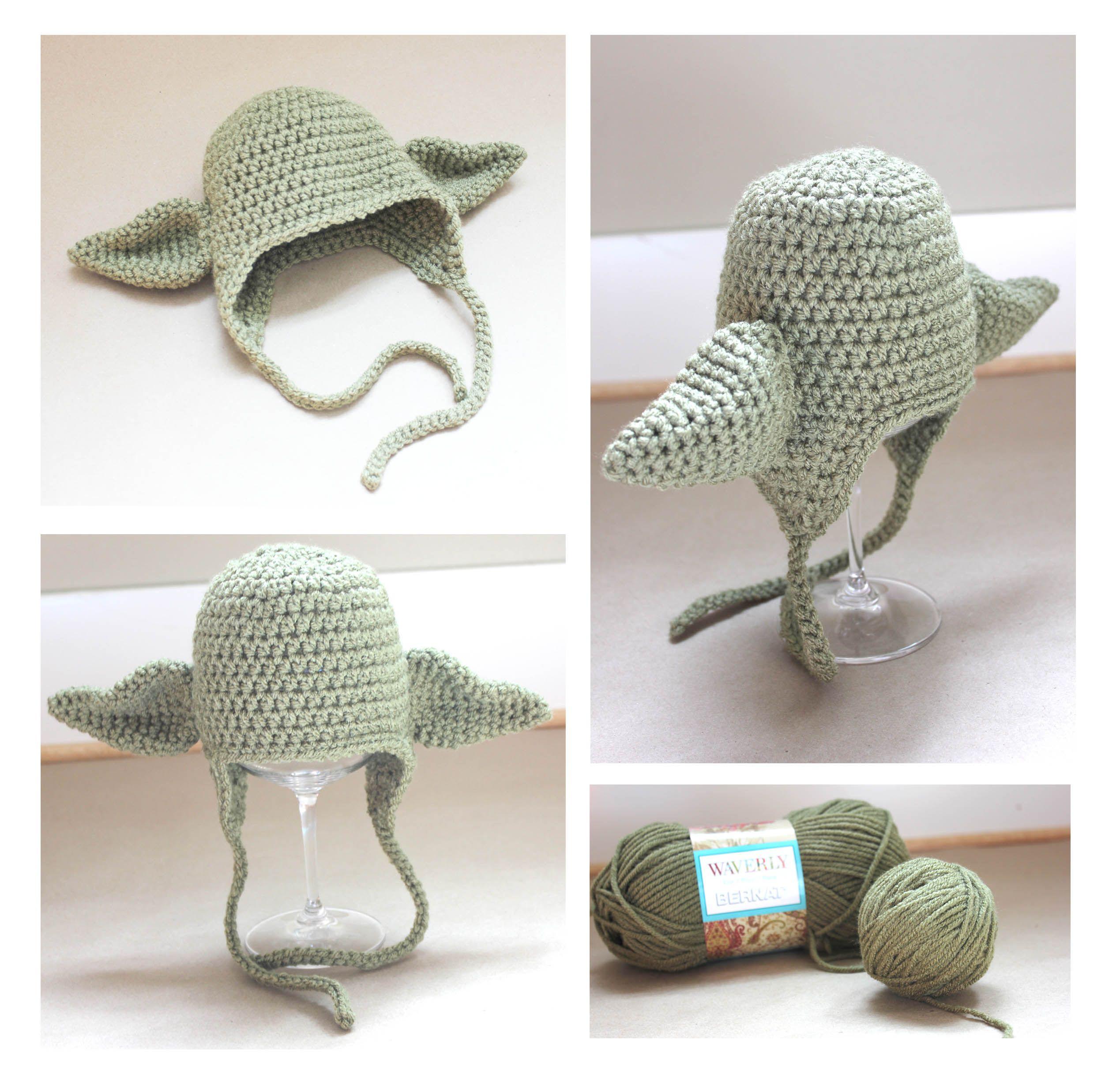 Crochet Yoda Hat   Stuff I should try to make   Pinterest ...