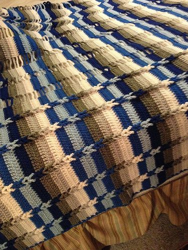 Jacob's Ladder Afghan pattern by Bev's Country Cottage #afghanpatterns