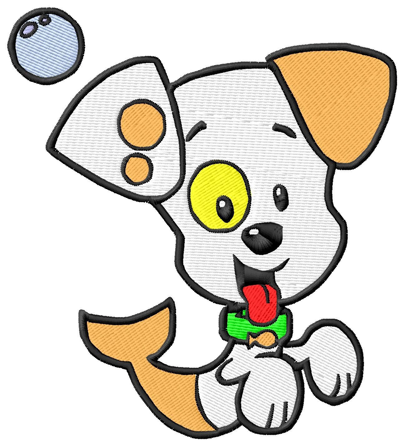bubble guppies puppy machine embroidery designs by abcdesignsplus