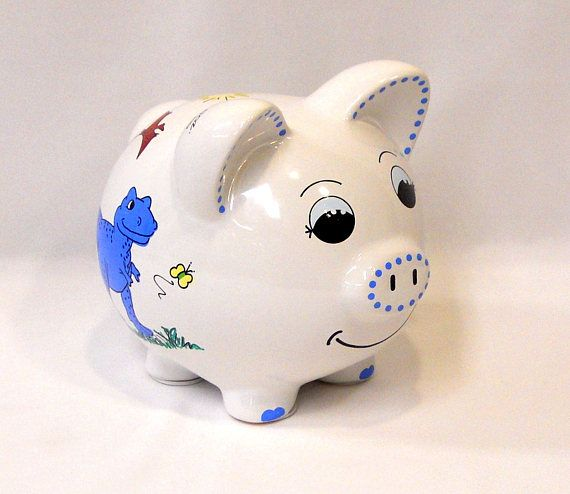 DIY Paint Your Own Ceramic Unicorn Coin Bank Money Box with Stopper 12 x 11.5cm