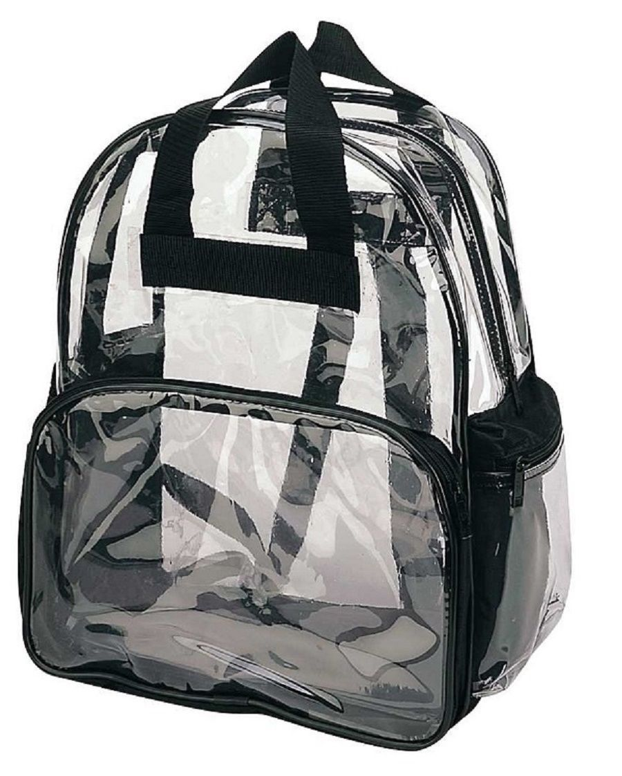 Travel Bag Clear Unisex Transparent School Security
