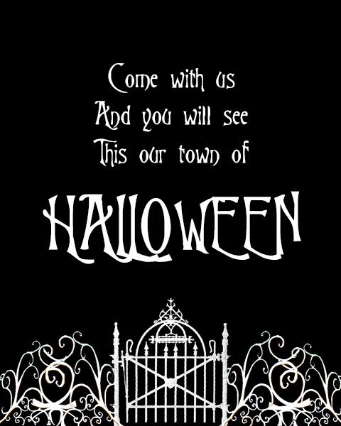 Free Halloween Town Printable  Days Of Halloween  Day