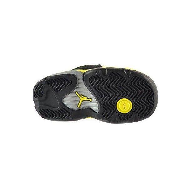 detailed look 8c2cc f040e Jordan 14 Retro BT Baby Toddlers Shoes Black/Vibrant Yellow ...