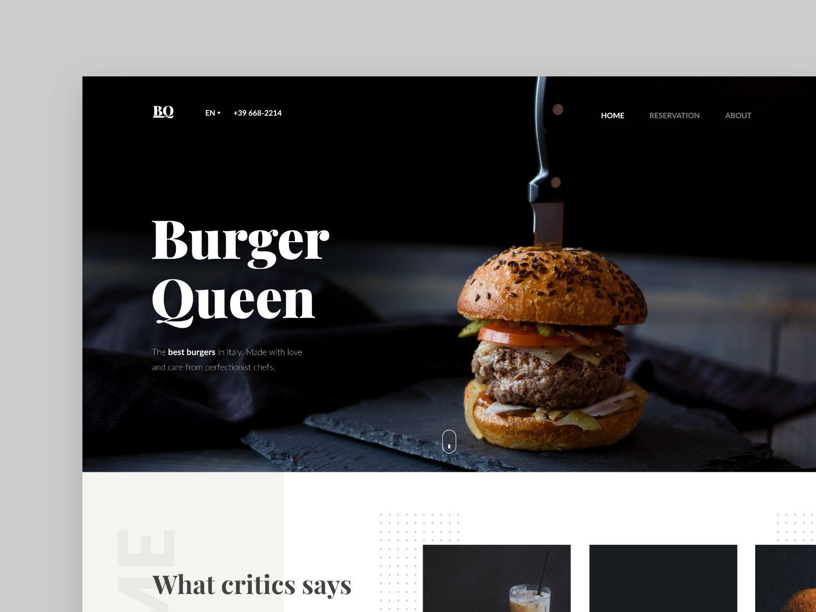 Alzea restaurant landing page concept - #visualexploration   web
