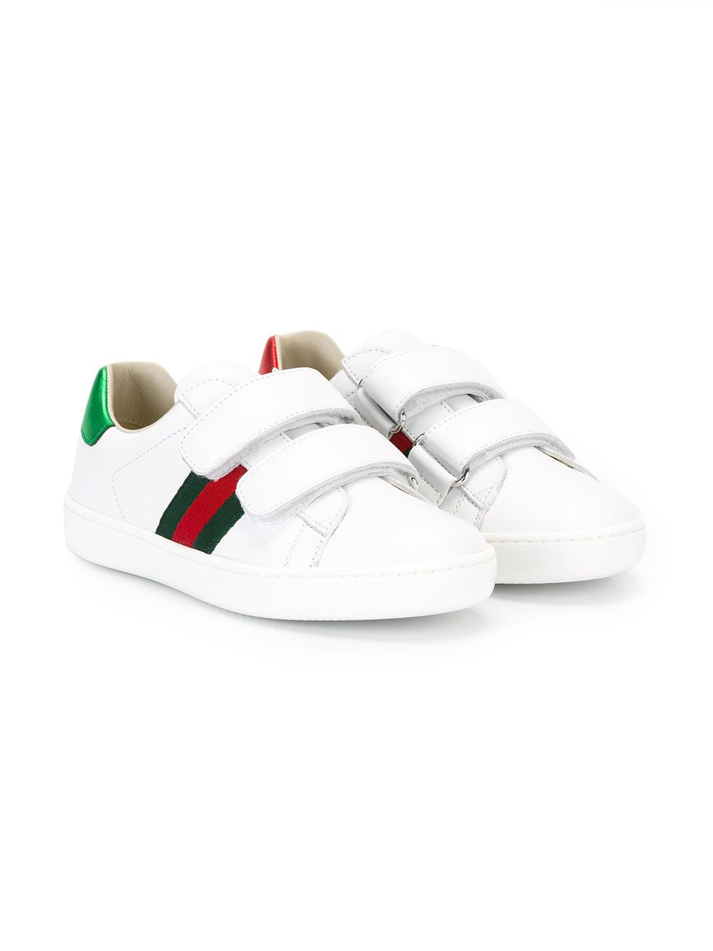 607d70293b  gucci  kids  web  sneakers  shoes  white  sporty  style www.jofre.eu