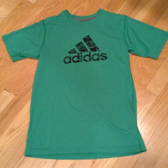 Boys Adidas Climalite tee Super soft material, perfect condition. Green color. Adidas Tops Tees - Short Sleeve