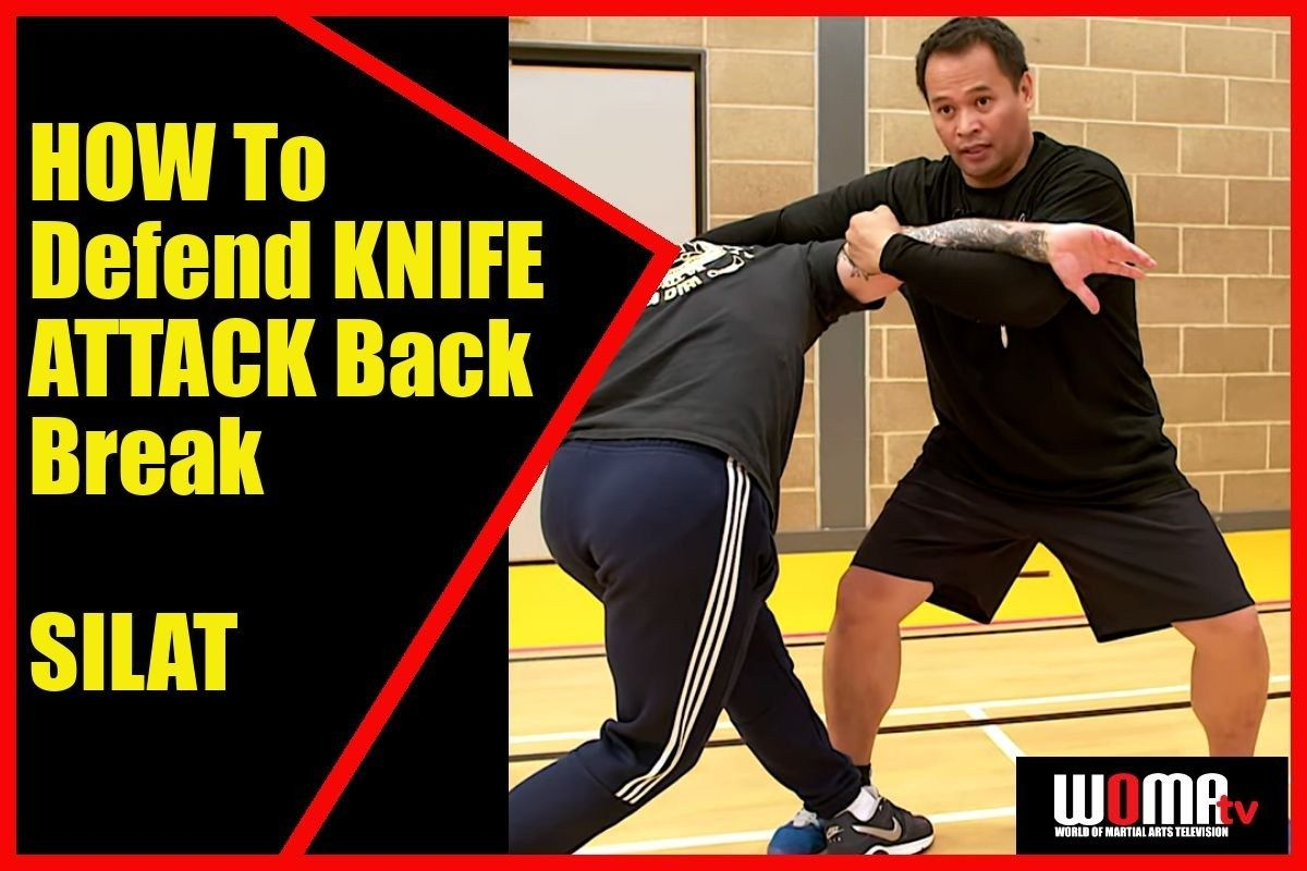 How to defend knife attack back break silat martial arts