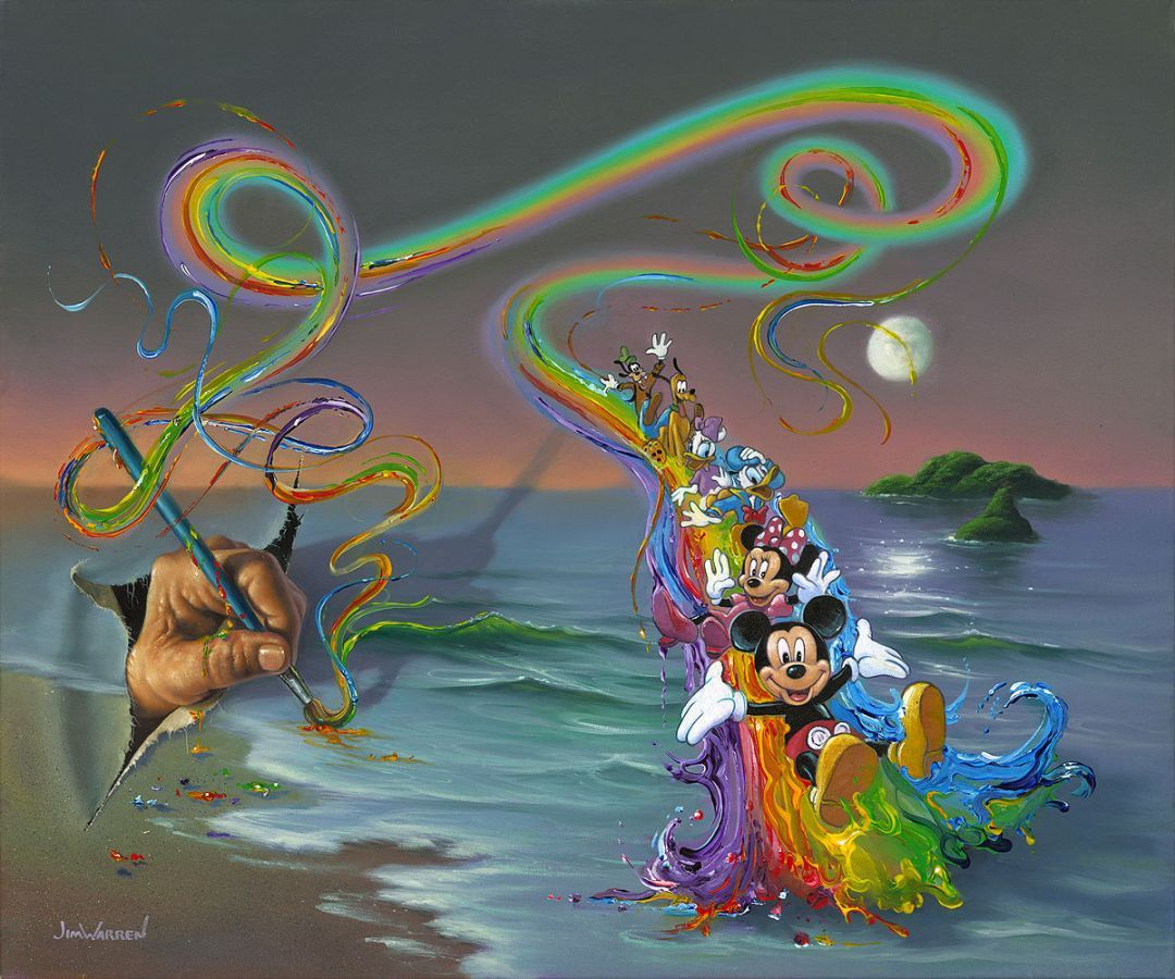 """walt' Colorful Creations"" Jim Warren Disney Fine Art"