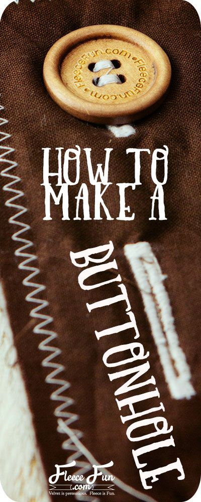 How to make a buttonhole for beginners. I love how she shows each step of how to make a buttonhole. Great sewing tip for my DIY ideas.
