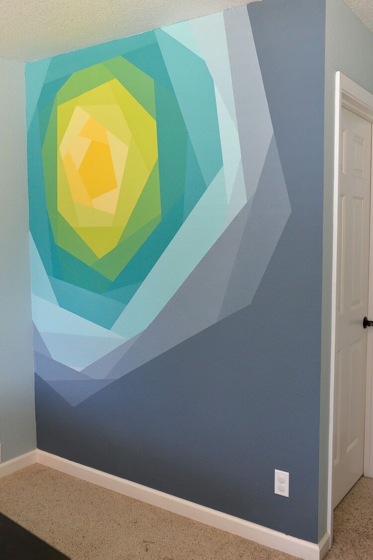 painted flower wall mural artwork flower wall wall murals and all it takes to make this gorgeous flower wall mural is paint frogtape and