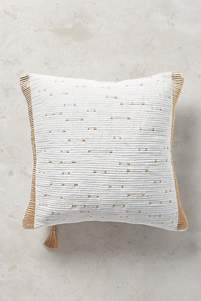 Embroidered Nadiyah Pillow #anthropologie