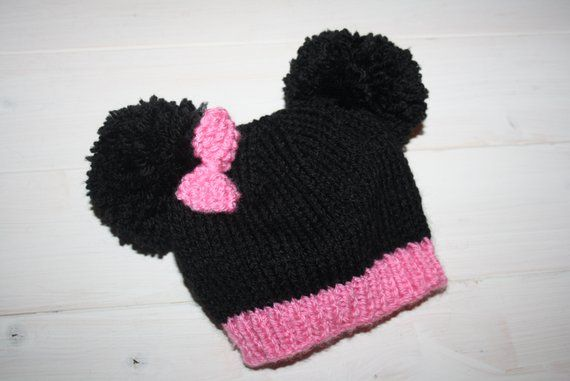 Hand Knitted Mouse Beanie Hat // Size 0 - 6 Months // 1-2 ...