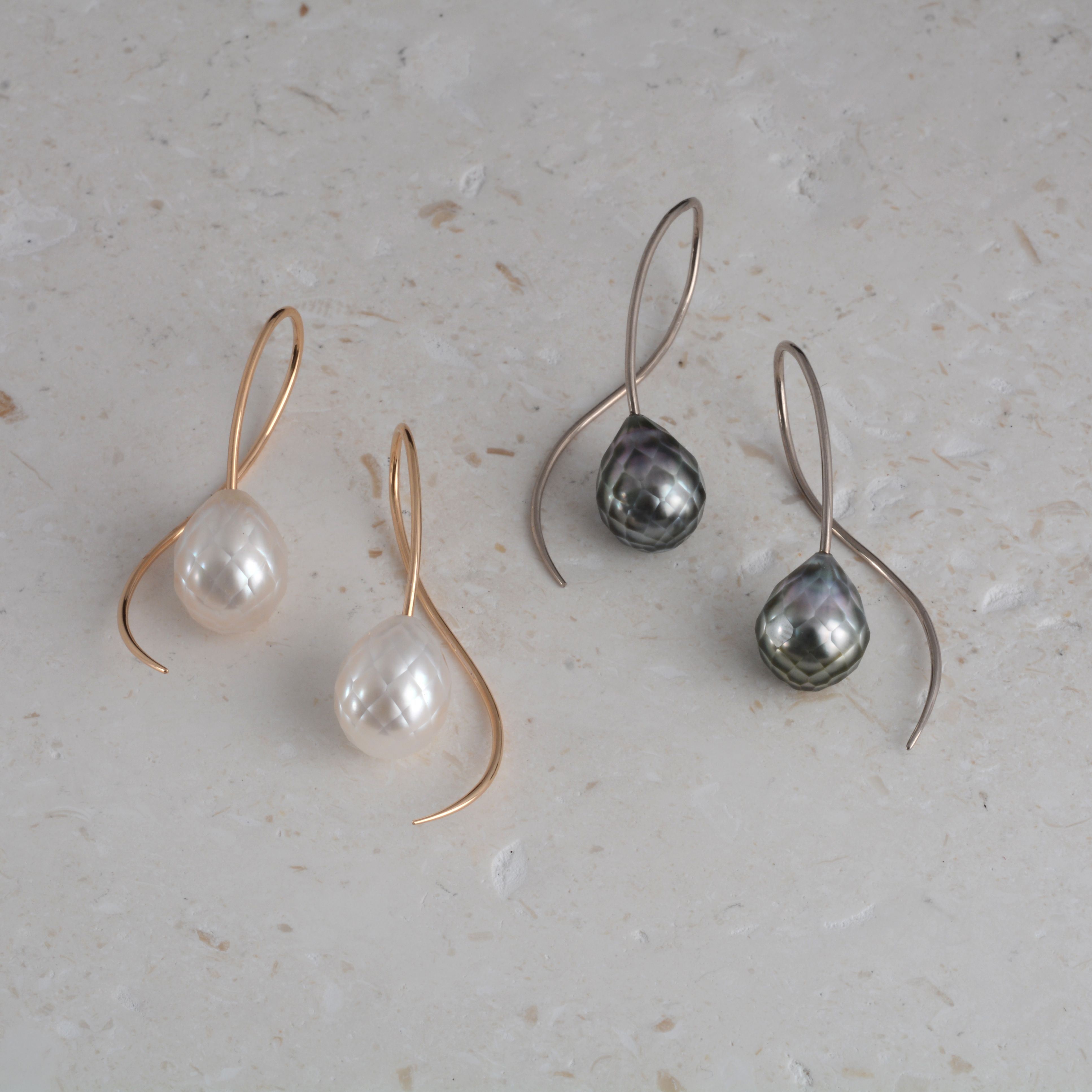 2dd746ffa0d Facinating faceted pearls - these earrings don t hang around long ...