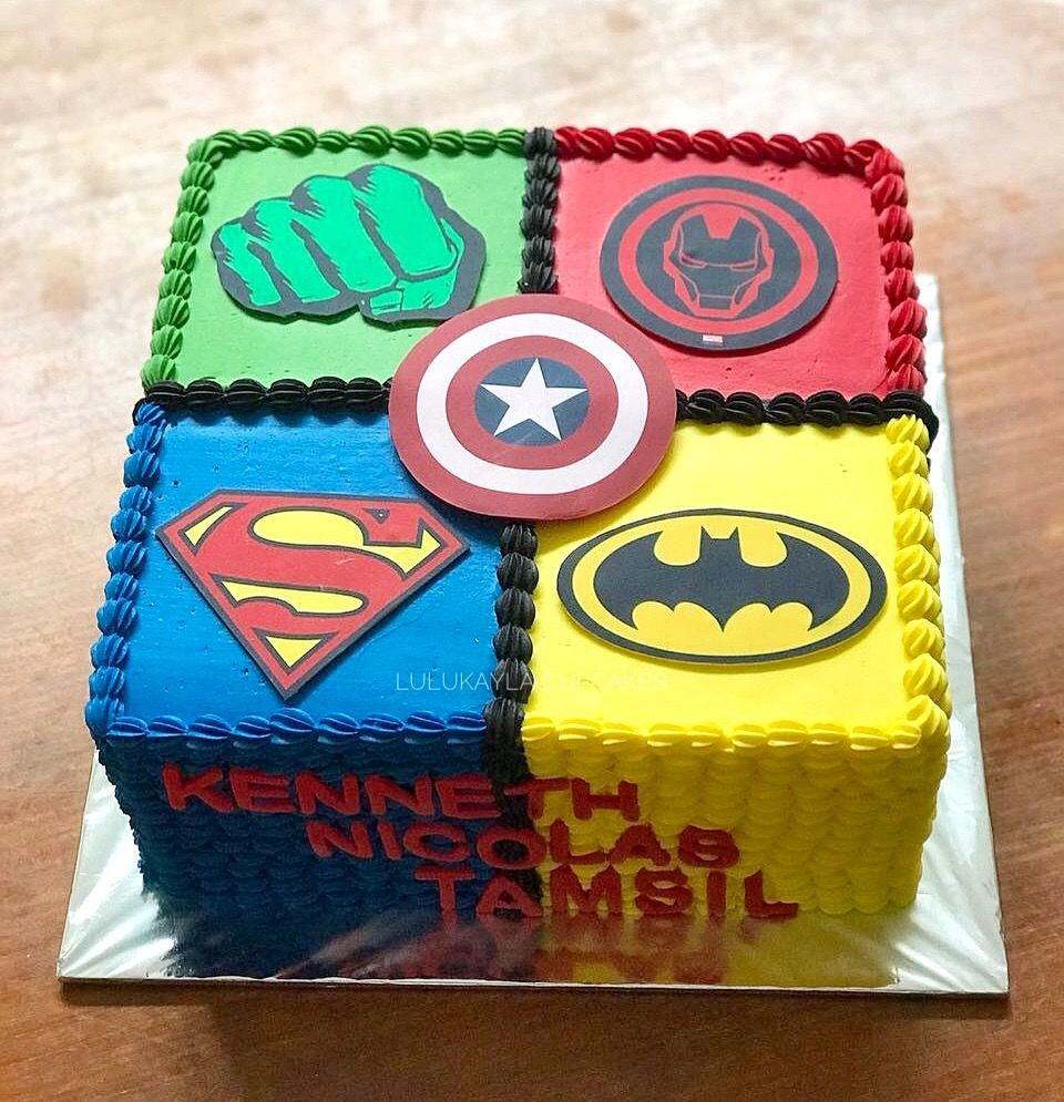 Swell Superhero Buttercream Cake With Images Superhero Birthday Cake Personalised Birthday Cards Rectzonderlifede