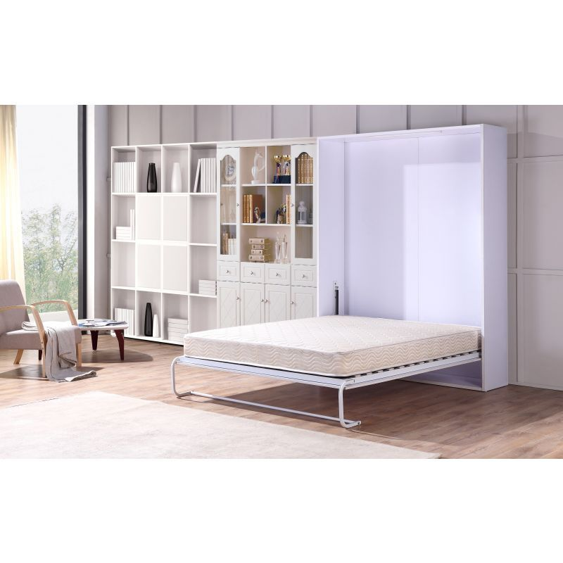 folding queen bed Fold Down Queen Size Palermo Hidden Murphy Wall Bed | Office  folding queen bed