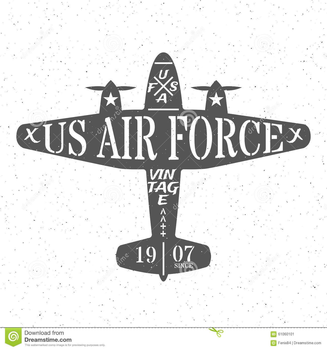 Air Force Of The United States. Stock Vector Image