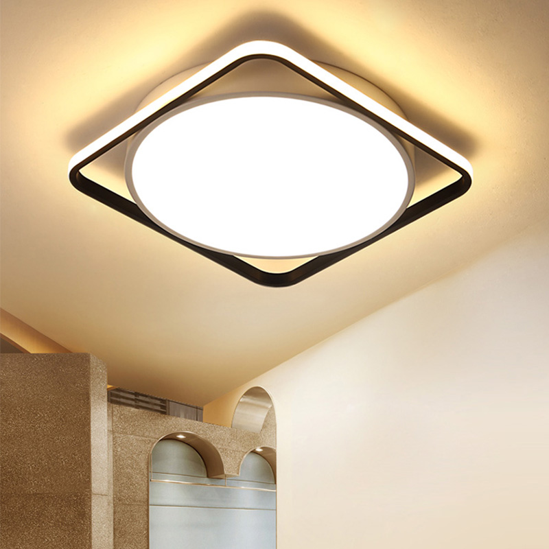 Contemporary Simple Led Flush Mount Square Lamp Fashion Ceiling