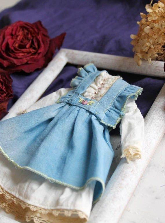 Blythe bestickte Kleidung Blythe Outfit 12ZollPuppenkleiderset handbemalt   Products