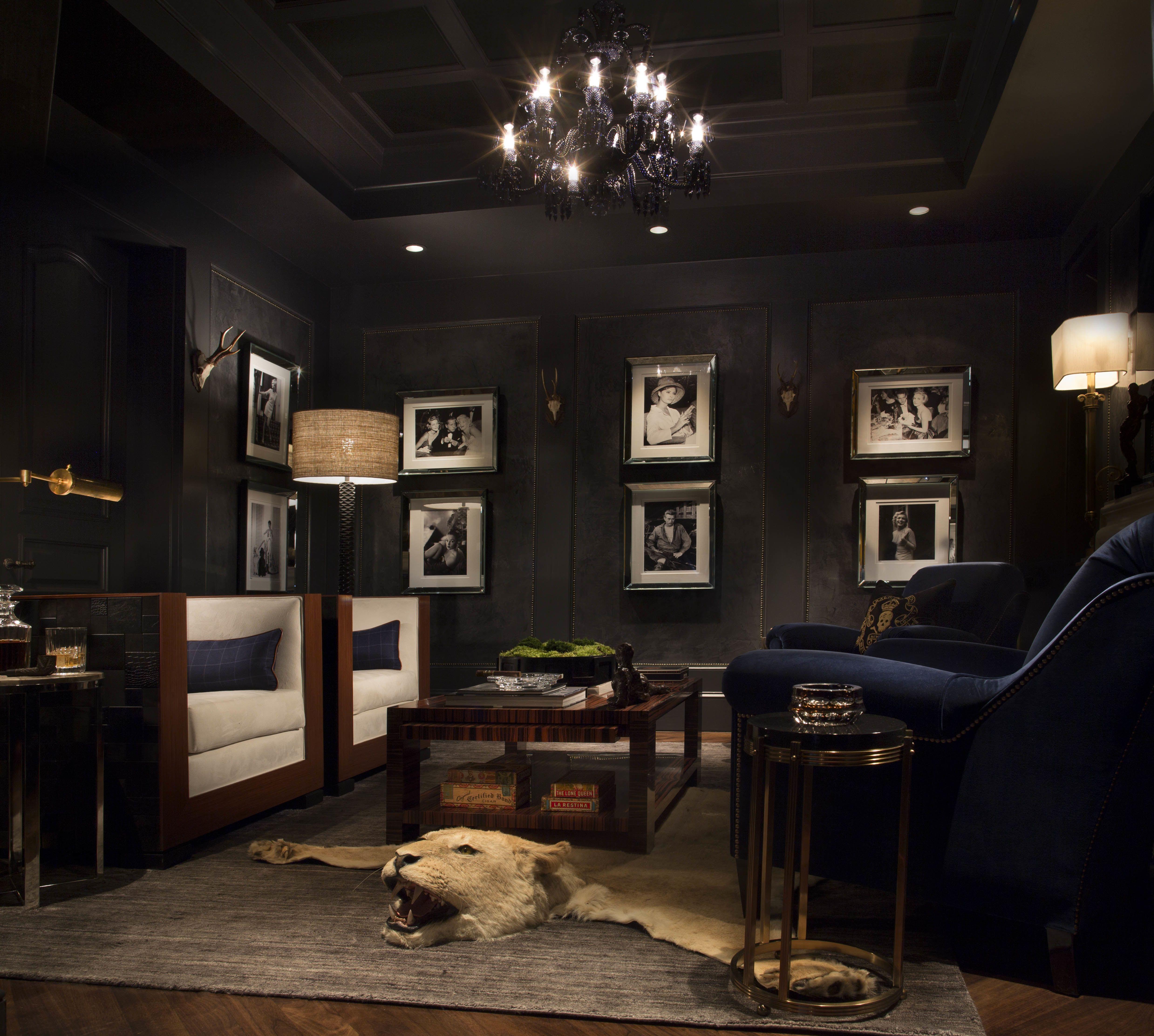 Home Tempo Da Delicadeza Gentlemans Room Contemporary Family Rooms Man Cave Home Bar