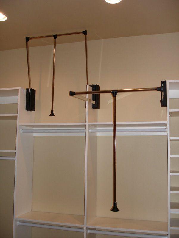 Pretty Pull Down Closet Rod Heavy Duty Home Decor