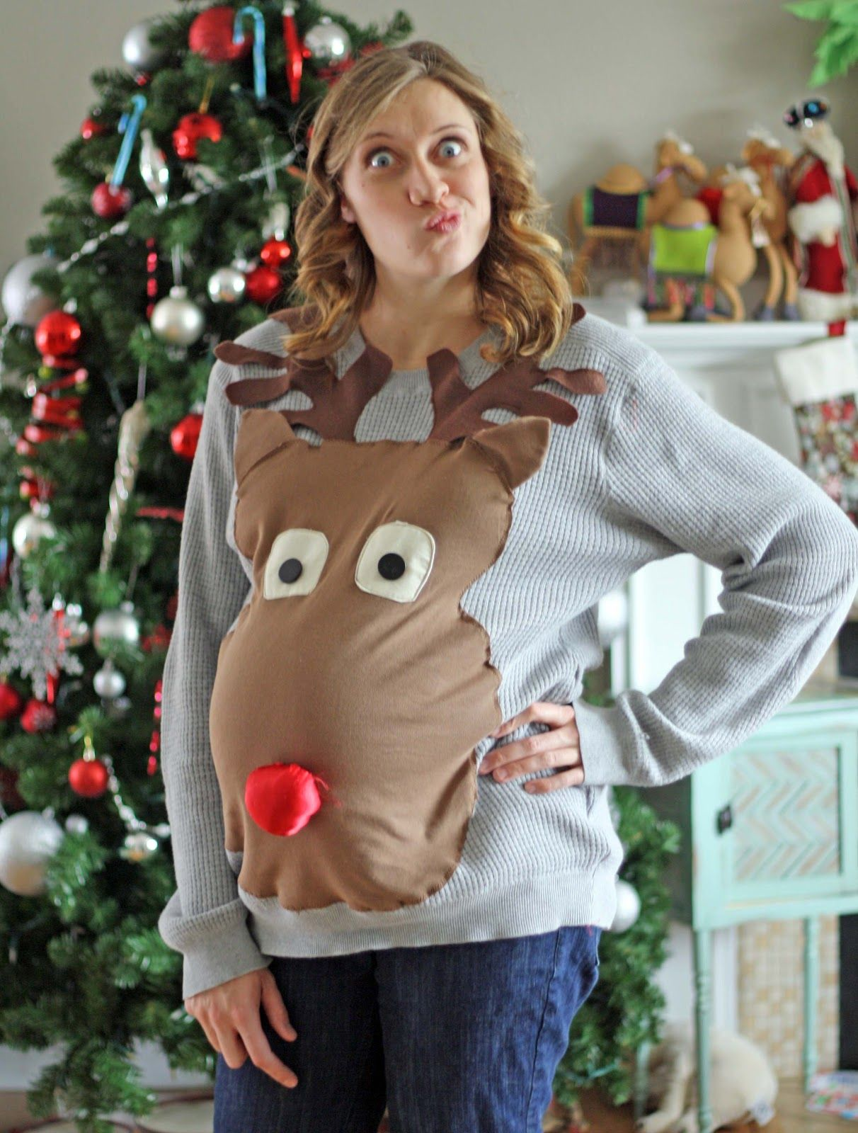Ugly sweater christmas party maternity style ba ha ha christmas ugly sweater christmas party maternity style ba ha ha ombrellifo Images
