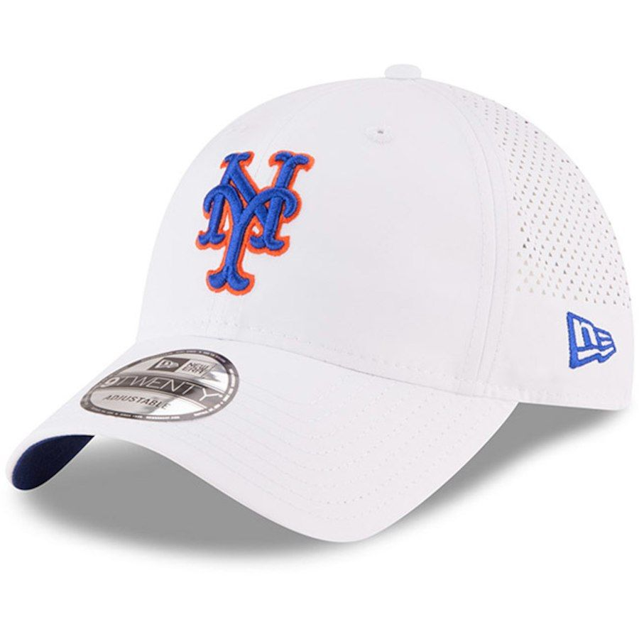 66ec242c9ef Men s New York Mets New Era White Perforated Pivot 9TWENTY Adjustable Hat
