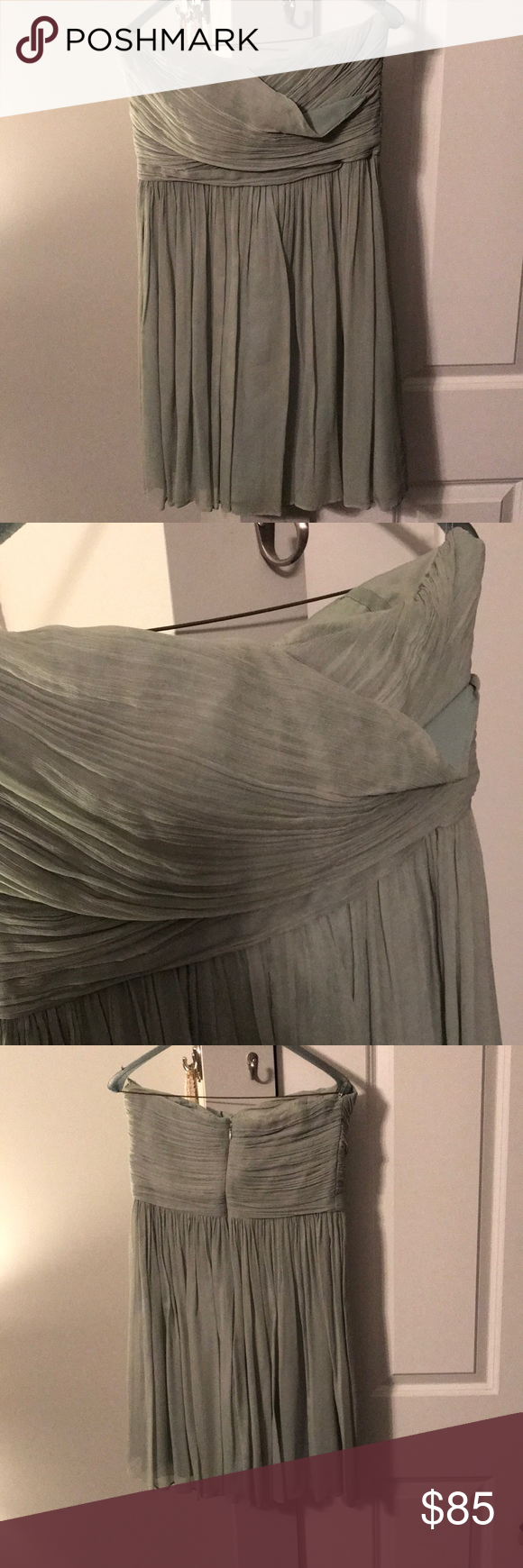 J. Crew bridesmaid dress Sage green. No alterations. Worn once; dry cleaned! J. Crew Dresses Strapless #sagegreendress J. Crew bridesmaid dress Sage green. No alterations. Worn once; dry cleaned! J. Crew Dresses Strapless #sagegreenbridesmaiddresses