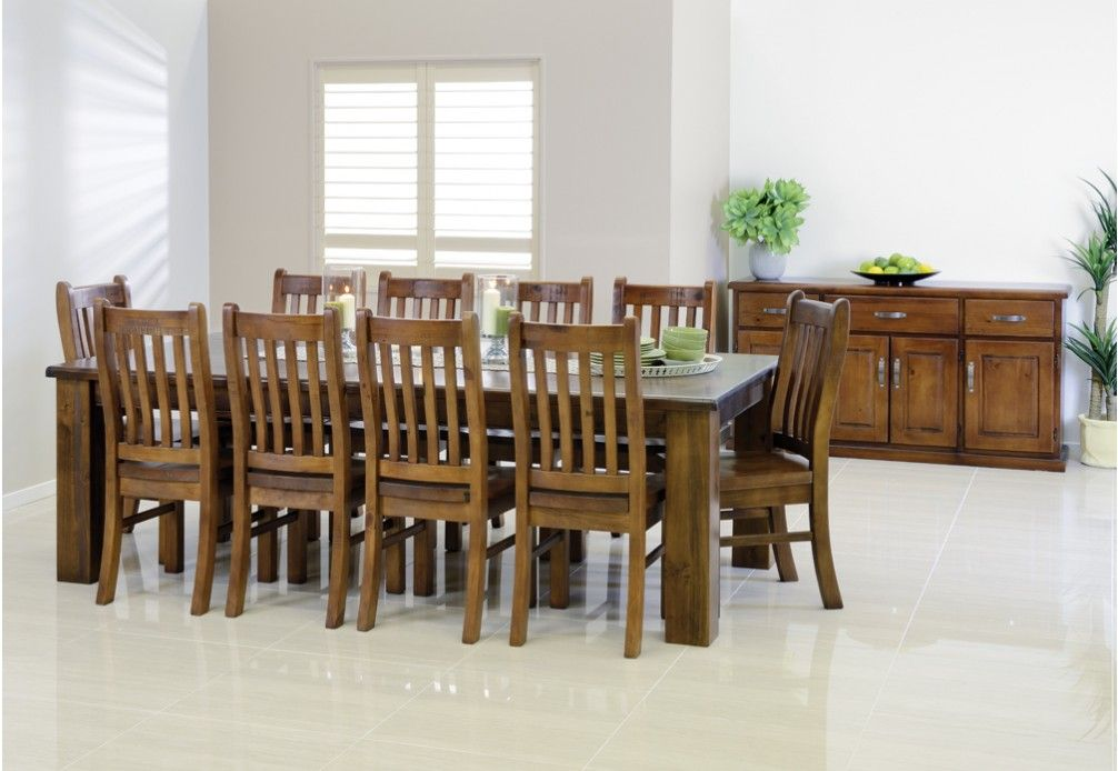 Wonderful The Settler 11 Piece Dining Suite Is A Spacious And Stylish Solution For  Your Home. Comprising Of A Table And 10 Dining Chairs ...