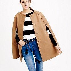 Cape jacket in wool melton  $250  JCrew