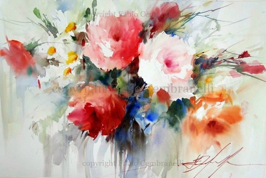 Fabio Cembranelli A Painter S Diary Flower Art Painting