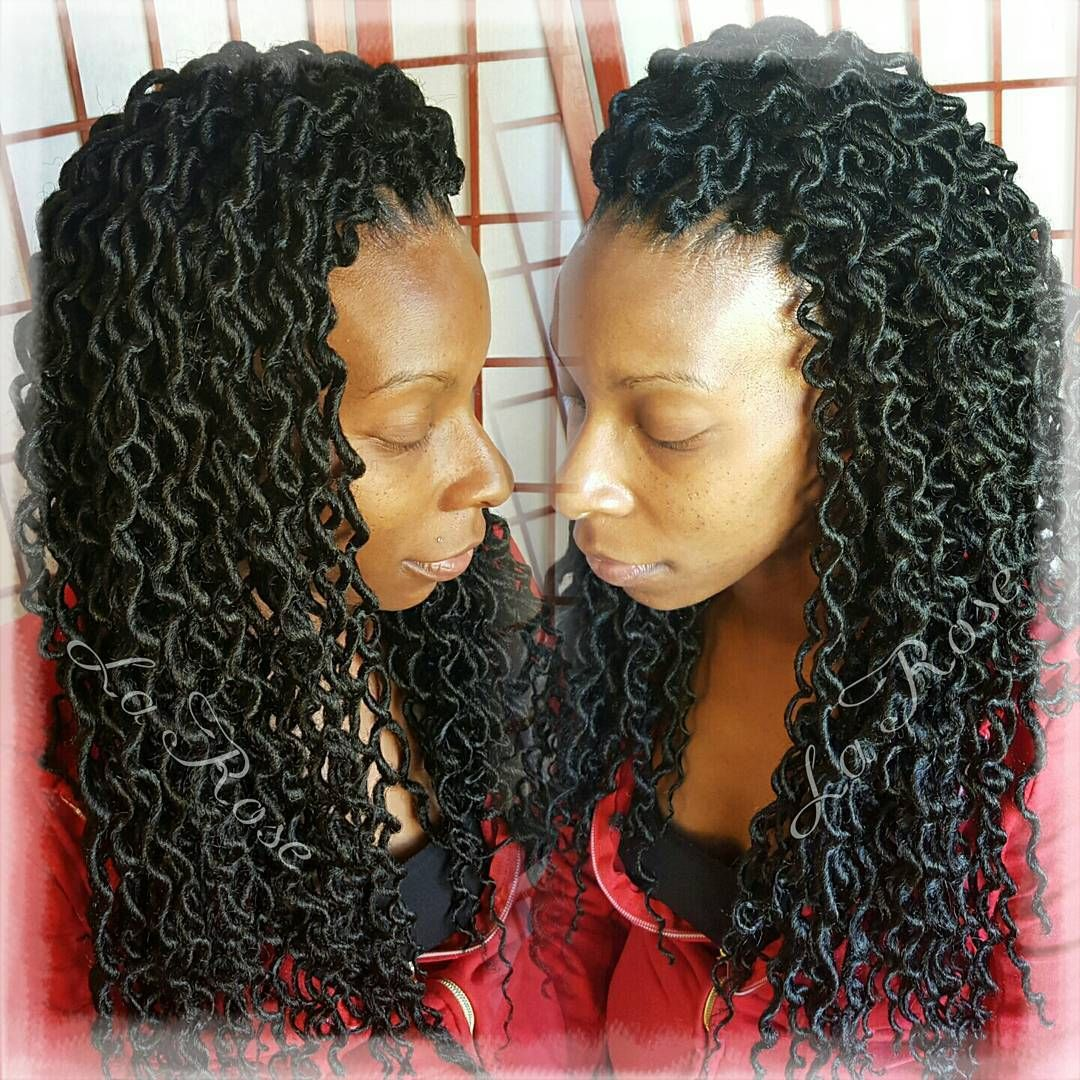 Crochet Faux Locs Hairbylarose Hairstylist Stylist Rockford