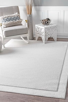 Rugs Usa White Dewdrop Simple Solid Rug Contemporary Rectangle 8