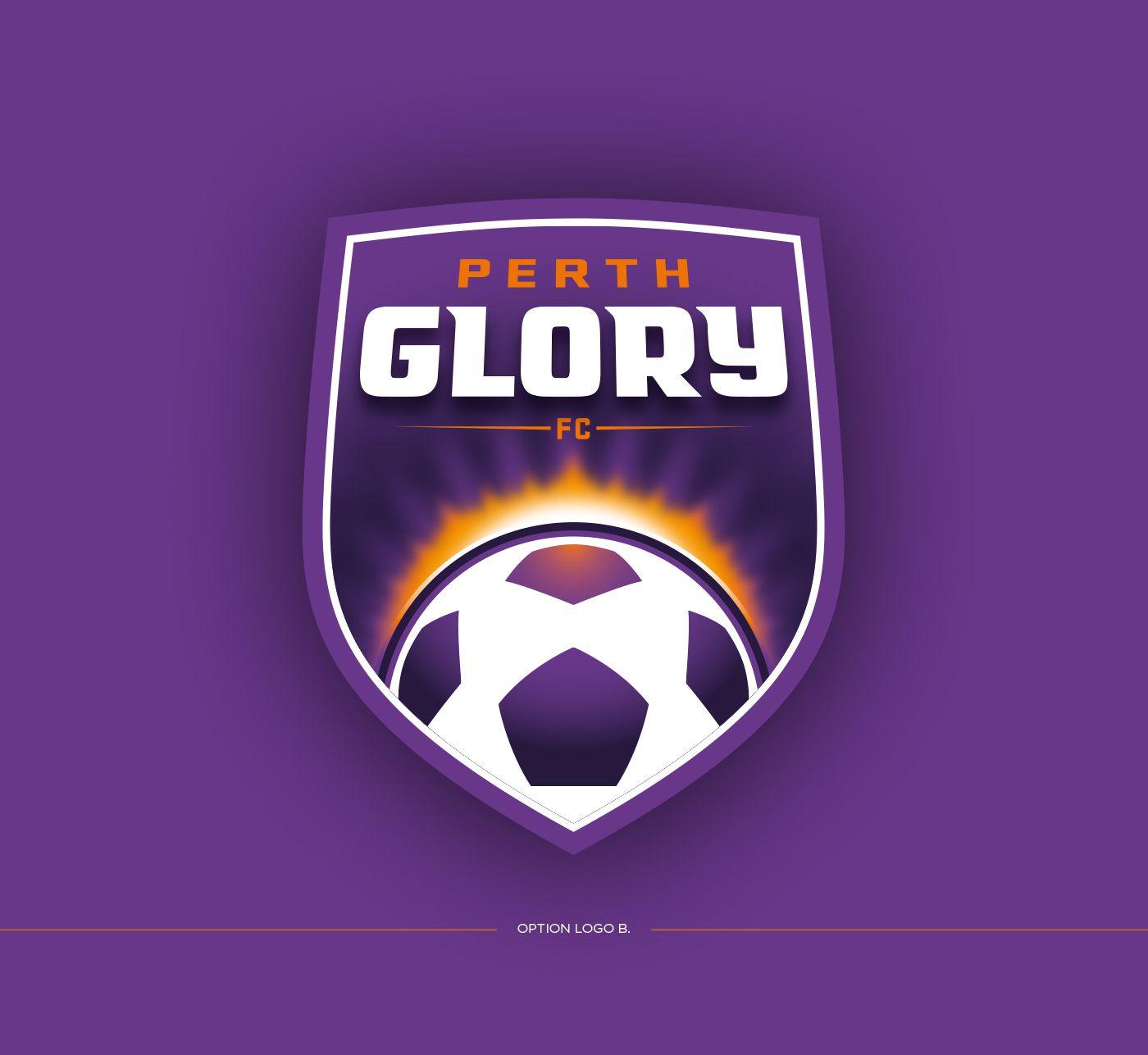 perth glory logo concept on behance sport style team