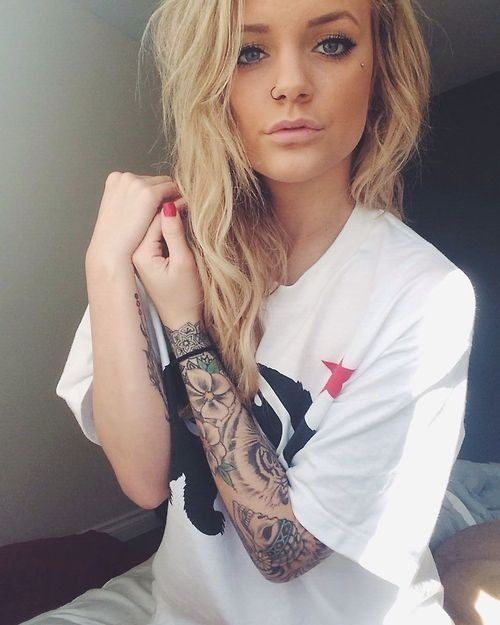 e9a947790 tiger tattoo tumblr for girls - Google Search | TATS | Sleeve ...